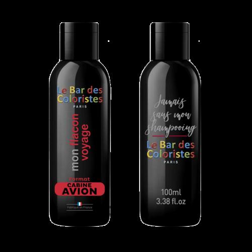 Flacon cabine pour emporter votre shampoing